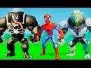 Супергерои мультфильм игра для детей Веном против Халка,Человек Паук VS Зелёный Гоблин,машинки ТАЧКИ