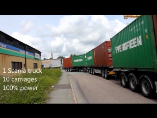 ✌ Scania POWER -  ☢ Longest Load Container ☢