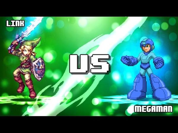 Megaman VS Link.
