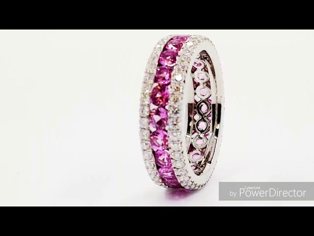 Jewelry Factory NY Presents Natural Pink Sapphire wedding band