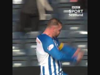 Kris Boyd has some fun in front of Aberdeen fans