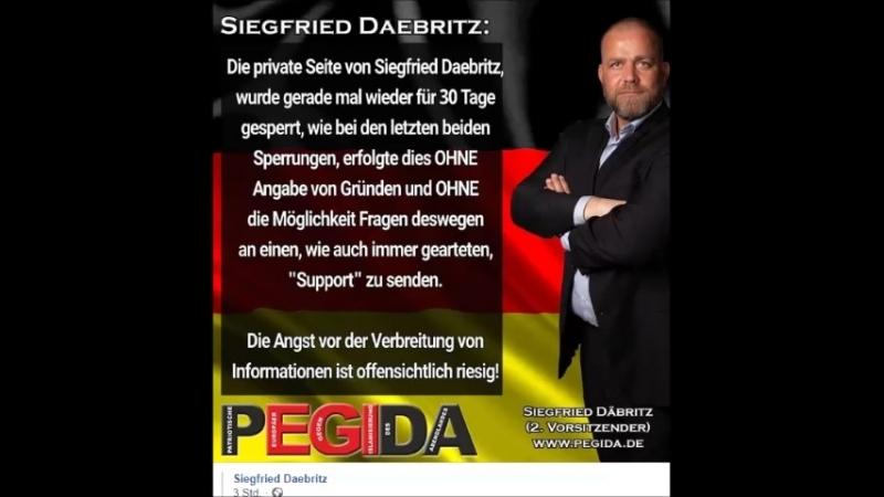 KURZINFO.Sperre Siegfried Daebritz bei Facebook.com
