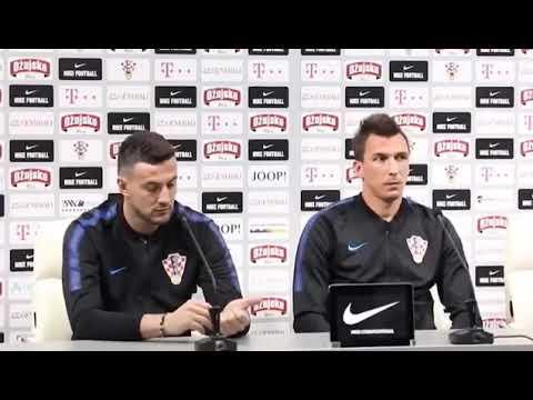 😂 Mandzukic Subasic CRAZY REACTION on Press Conference by Croatian Players😂