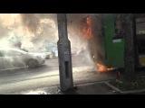 ДТП Загорелся автобус на красрабе