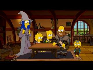 """Хоббит"". Сцена на диване для 3 эпизода 25 сезона The Simpsons."