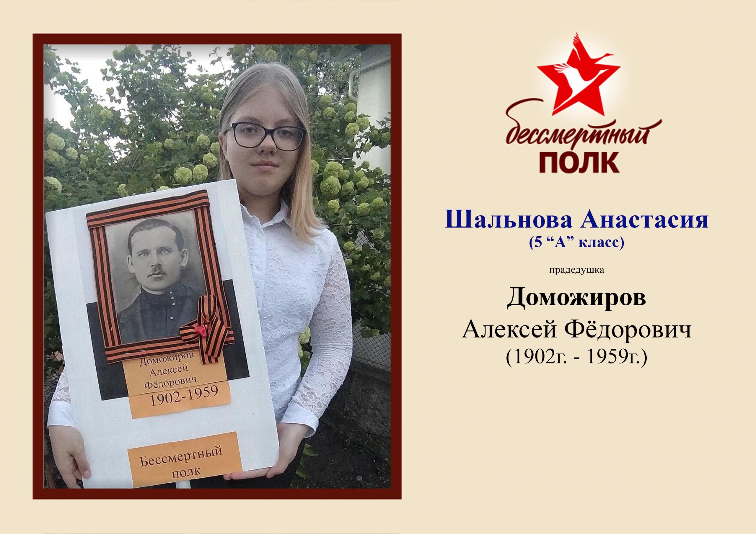 Шальнова Анастасия