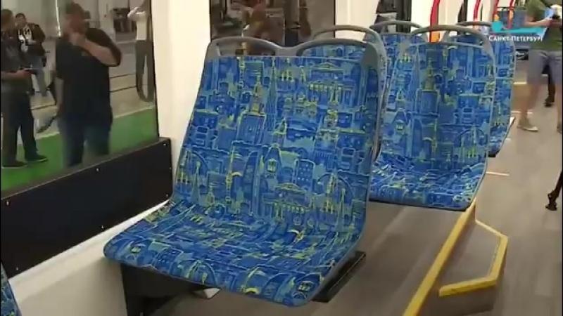 Новую модель трамвая представили в Петербурге. Вагон, созданный в городе на Неве, назвали «Львенком».Питер_рулит!👍 🇷🇺