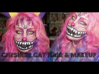 Cheshire Cat Halloween Makeup & Hair Tutorial