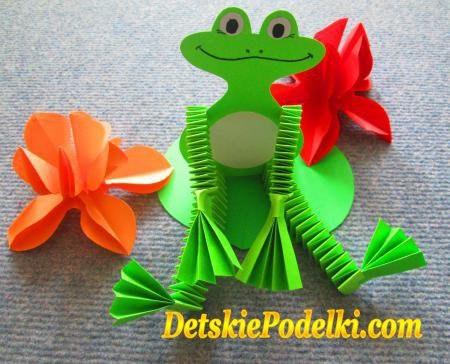 Поделка лягушка из бумаги и картона 4 класс