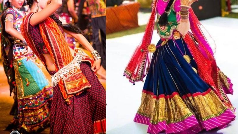 Latest navratri Garba outfit Ideaslehenga choli designsColourful lehenga designs for garba 2017