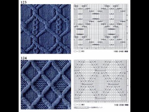 Шикарные схемы узоров для спиц co 121 по 130 Книга 260 узоров Хитоми Шида