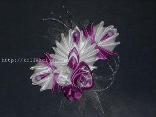Цветы из лент и ткани своими руками
