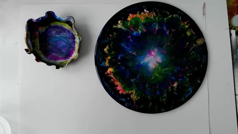Resin Art первый опыт плюс вазочка