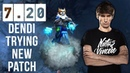 Dendi First Time Ever on New Patch 7 20 Still Zeus Favourite Hero to gain MMR Dota 2