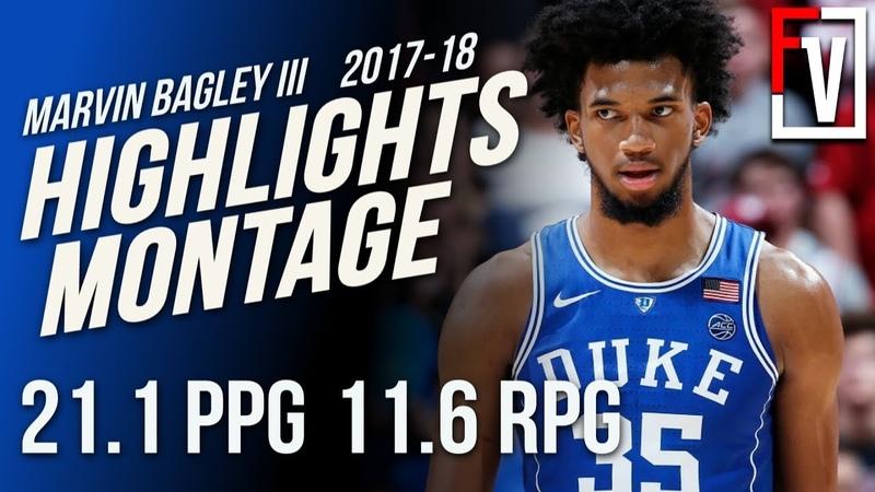 Marvin Bagley III Duke Freshman Season Highlights Montage 2017-18 | 21.0 PPG, 11.1 RPG, So Skilled!