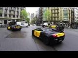 Бесплатное такси на Ламборгини в Бараселоне / Lamborghini Taxi Barcelona / Josef Ajram & Sebas Romero