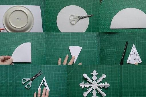Как делать снежинки из бумаги видео простые