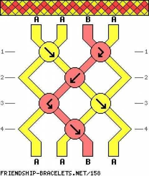 Как сделать фенечку по схемам
