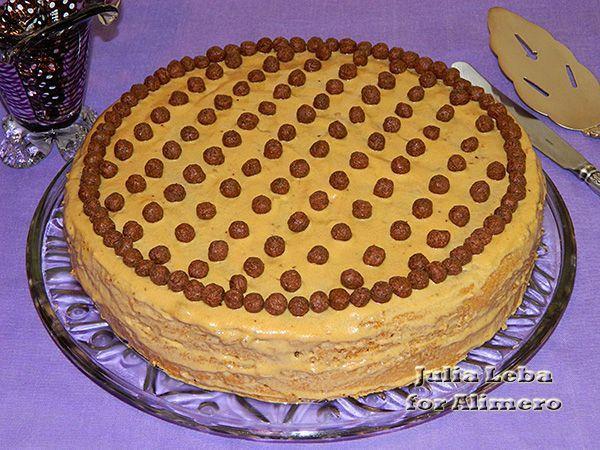 Украшение бисквитного торта видео