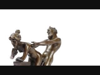 АРХИВ Статуэтки Сатир и нимфа, бронза