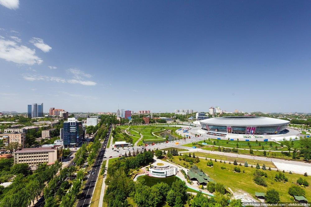 Проспект Мира и Донбасс арена