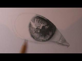 Урок рисования глаз карандашом.