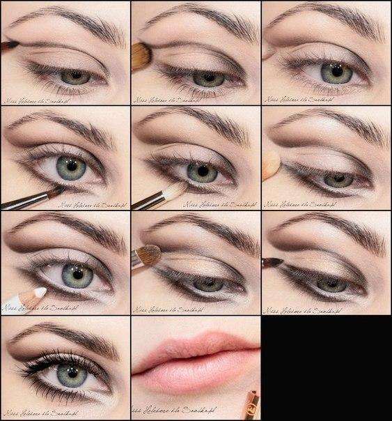 красивые глаза макияж.