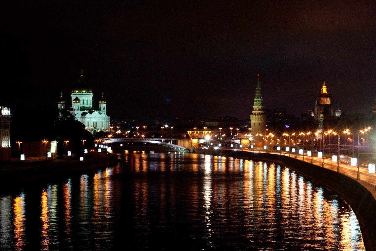 Ночная москва фото 9 фотография