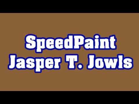 SpeedPaint Jasper T. Jowls (Chuck E. Cheese's)