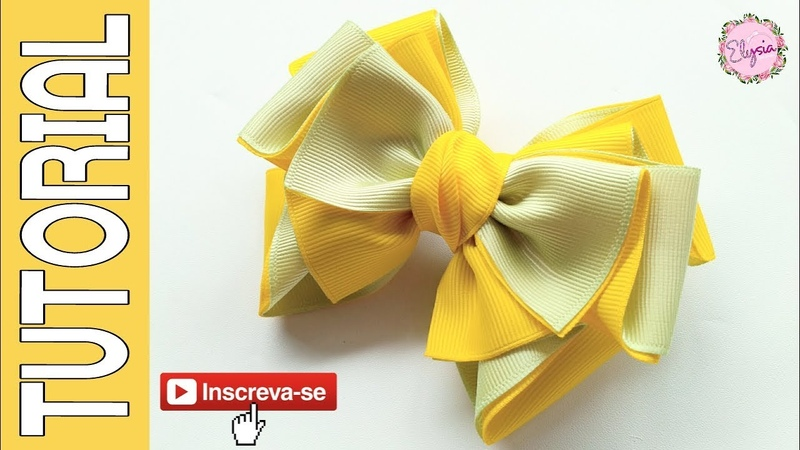 Laço Camila 🎀 Ribbon Bow Tutorial 🎀 DIY by Elysia Handmade