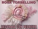 ROSA TORBELLINO CON PEDRERIA craft tutorials how to do bows tutoriales vinchas balacas cintillos