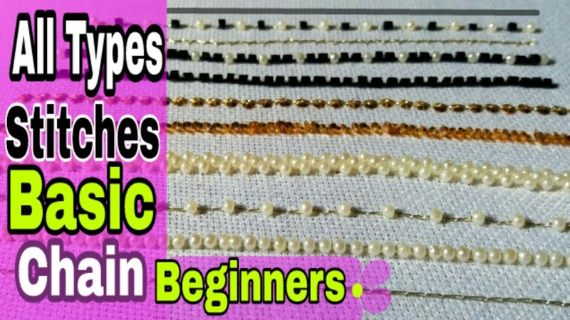 Hand Embroidery Stitches tutorial | Aari embroidery | maggum work | Hand work