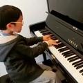 Людвиг ван Бетховен. Соната для фортепиано #14 часть 3 (Лунная соната). Мальчику 7 лет... Родителям огромное уважение!
