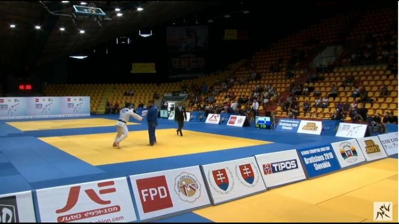 SENIOR EUROPEAN JUDO CUP - BRATISLAVA final 100 kg SIMIONESCU, Vladut (ROU)-DZHIOEV, Aslan (RUS)
