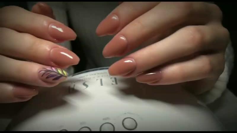 Преображение ноготков от Юлии Семёновой 🖤Наращивание ногтей ✨