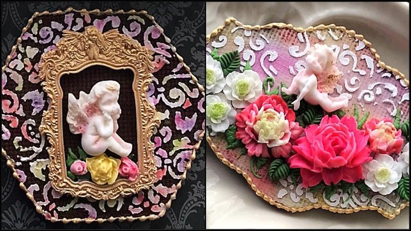 Angels around me. Beautiful Floral cookies.