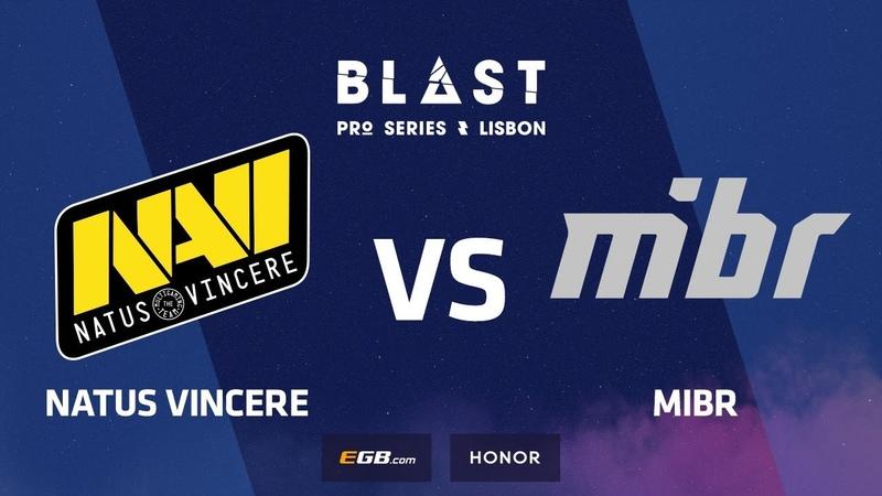 Natus Vincere vs MIBR, Mirage, part 1, BLAST Pro Series Lisbon 2018
