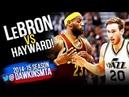 LeBron James vs Gordon Hayward Full Duel 2014.11.05 - LBJ With 31, CLUTCH Hayward With 21!