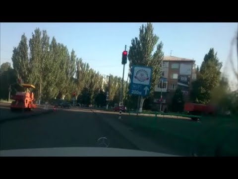 Красный Луч Снежное 2018 Ремонт дорог * Krasnyi Luch Snezhnoe Road repair