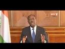 Côte d'Ivoire : Message à la Nation du président OUATTARA à l'occasion du nouvel an