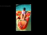 Глюкоза (Наталья Ионова) в бассейне в Антибе - Instagram, 19072018 - Голая Секси, попка, ножки