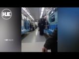 Неадекватная женщина буянит в метро Казахстана