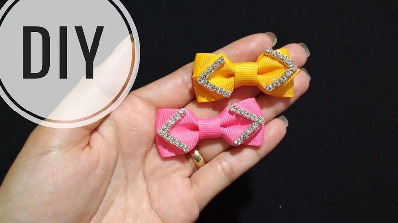DIY || Mini Bow | Grosgrain ribbon