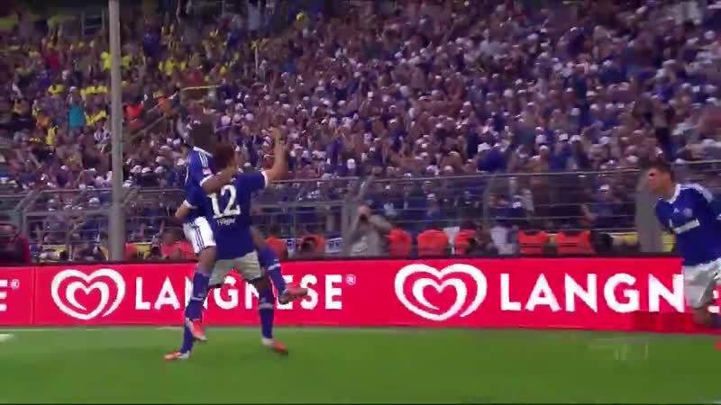 Голы Афеллая и Хёгера в ворота дортмундской «Боруссии»