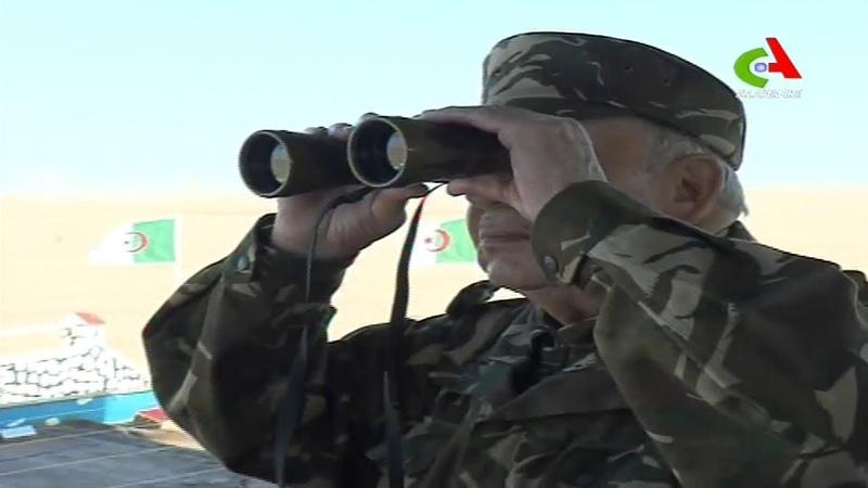 Algérie Gaïd Salah supervise à Tindouf l'exécution d'un exercice de tir avec munitions réelles