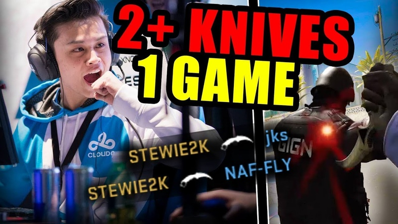 WHEN PRO PLAYERS GET 2 KNIFE KILLS IN 1 ROUND! (MULTI KNIFE KILLS) - CSGO