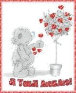 мишки тедди я тебя люблю признание в любви для тебя валентинка