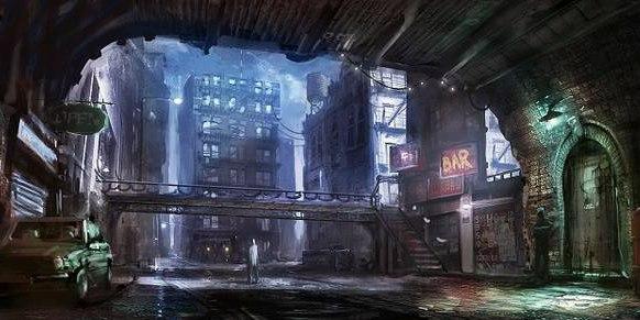 Улицы неблагополучного района