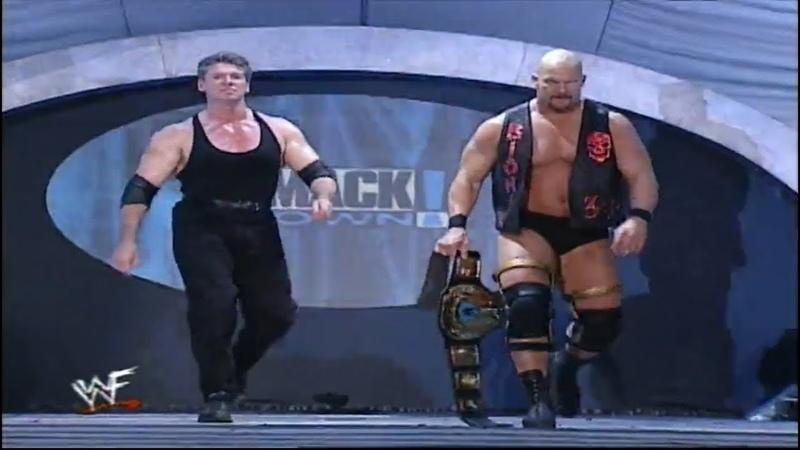Stone Cold Mr McMahon Vs Chris Benoit Chris Jericho WWF Tag Team Championship