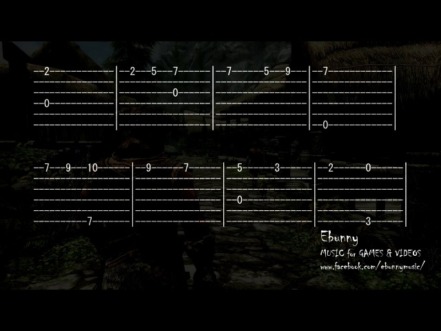 Skyrim Music - Dovahkiin (Dragonborn) [Full Acoustic Guitar Tab by Ebunny] Fingerstyle How to Play